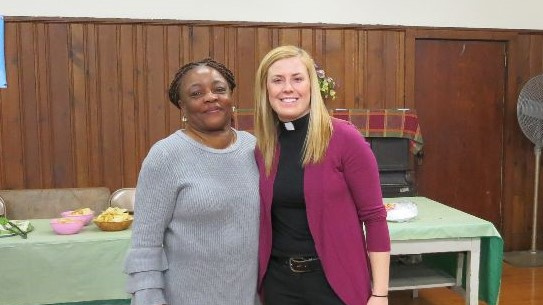 Jean Wilkerson-Heard, NJ WELCA Pres. & Intern AJ Houseman, Trinity, Jersey City